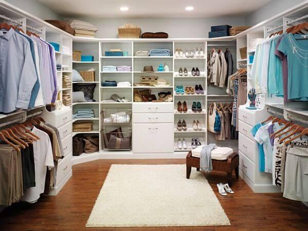 Large Master Closet Design .